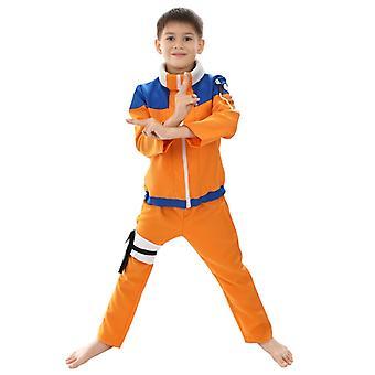 Halloween Child Naruto Cosplay Costume Uzumaki Naruto-size S-xl