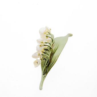 Calla Lelies Natuurlijke Parels Broches Pin Groene Antieke Verf Broche