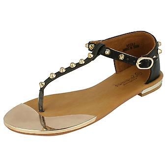 Ladies Savannah Flat Ankle Strap Sandals