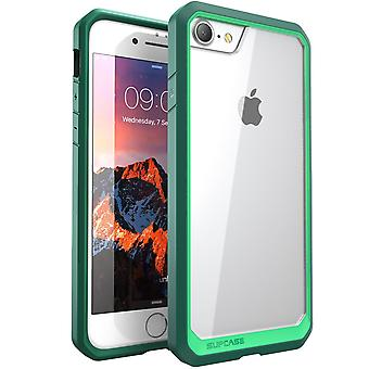 Supcase Unicorn Beetle Series Hybrid Protective Clear Case for Apple iPhone 7 - Green/Green