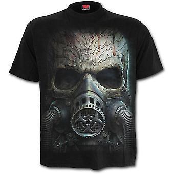 Spiral-bio skull-mäns svart Kortärmad t-shirt