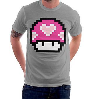 Super Mario Mushroom Heart Men's T-Shirt