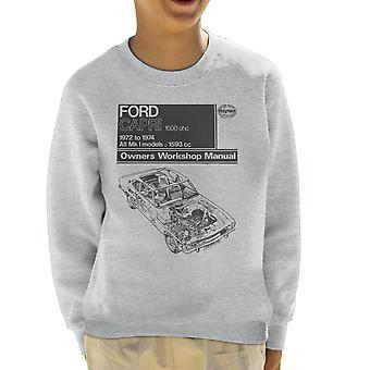 Haynes Workshop Manual Ford Capri 1600 OHC Black Kid's Sweatshirt