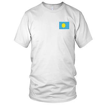 Drapeau National du pays de Palau - brodé Logo - T-Shirt 100 % coton T-Shirt Mens