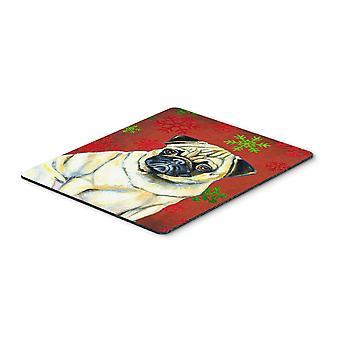 الصلصال الأحمر الثلج الأخضر عطلة عيد الميلاد الماوس الوسادة، الساخن Pad أو ترفة