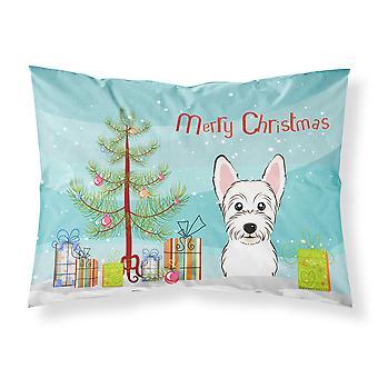 Christmas Tree and Westie Fabric Standard Pillowcase