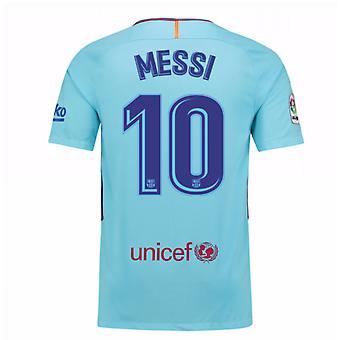 2017-2018 Barcelona væk Shirt (Messi 10) - børn