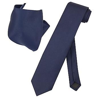ベスビオ ナポリ固体エキストラ ロング ネクタイ ハンカチ メンズ首ネクタイ セット
