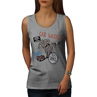 Car Wash Funny Fantasy Women GreyTank Top | Wellcoda