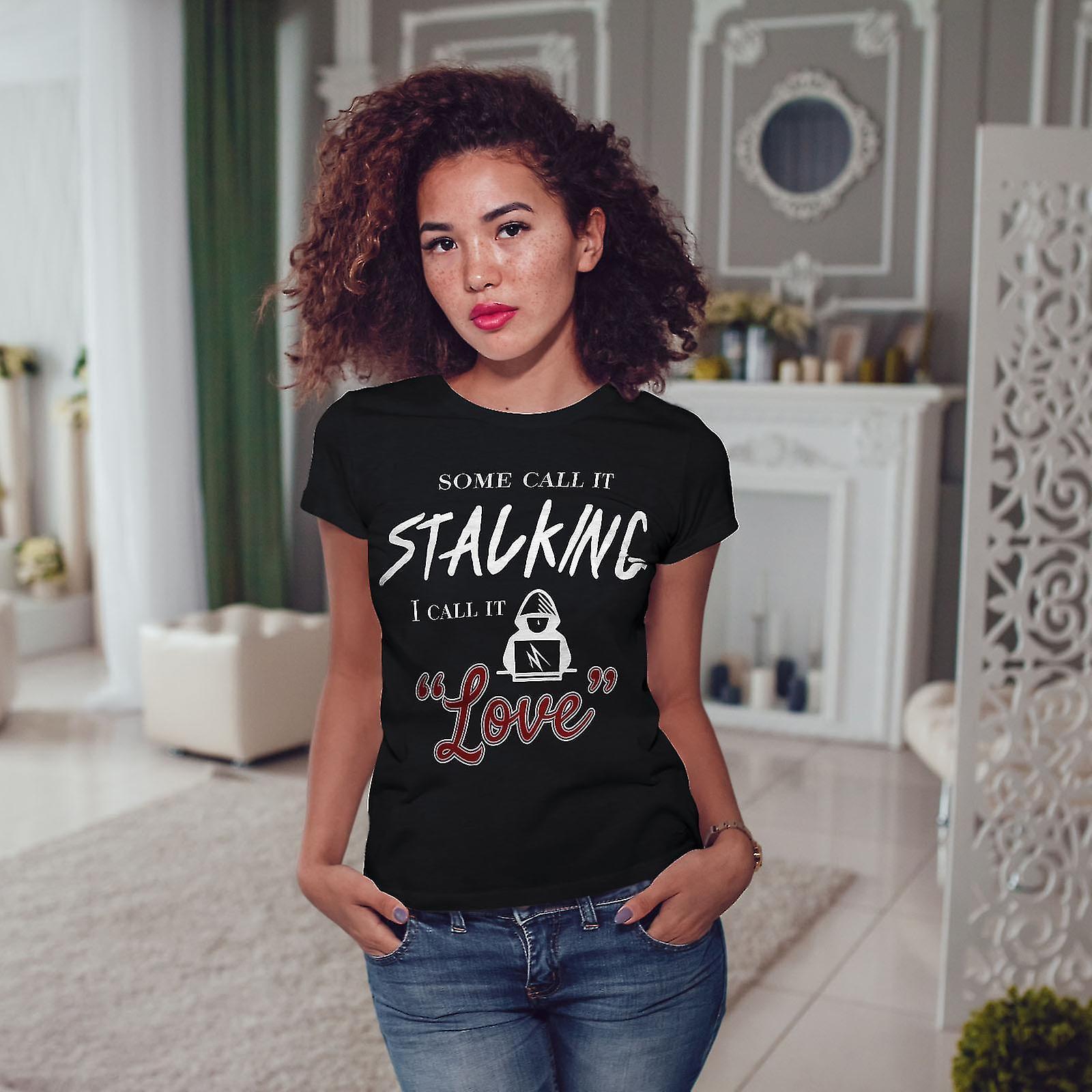 Creepy Stalker BlackT-chemise femme | Wellcoda