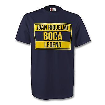 Juan Roman Riquelme Boca Juniors legende Tee (navy) - børn