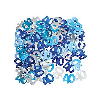 Anniversaire Glitz bleu - 40e anniversaire Confetti