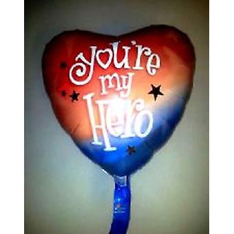 Foil Balloon « Tu es mon héros » 18