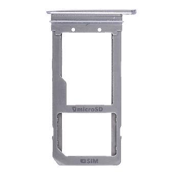 Für Samsung Galaxy S7 Edge - Dual Sim Karte Tablett Silber
