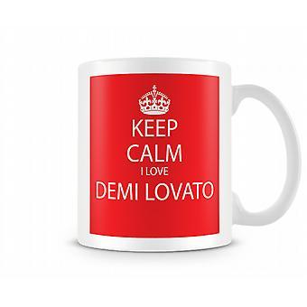 Keep Calm I Love Demi Lovato Printed Mug