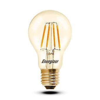 1 X Energizer GLS Globe Antique Gold Finish LED Filament Energy Saving Light Bulb E27 ES Edison Screw Fitting [Energy Class A+]