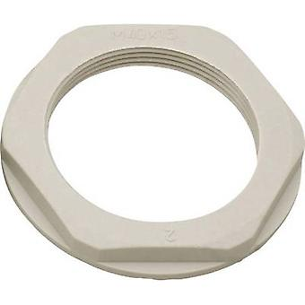 Helukabel KMK-PA 97816 Locknut with flange M12 Polyamide Grey-white (RAL 7035) 1 pc(s)