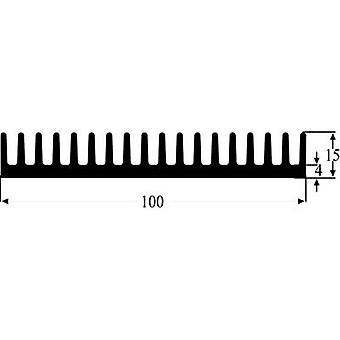 Fischer Elektronik SK 81 100 SA Fin heat sink 2 K/W (L x W x H) 100 x 100 x 15 mm