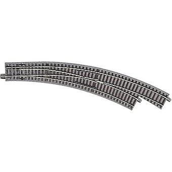 61155 H0 Roco GeoLine (incl. Rail bed) gebogen punt, rechts 30 ° 434,5 mm