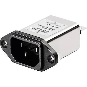 Schaffner FN 9222-3-06 Line filter + IEC socket 250 V AC 3 A 2.5 mH (W x H) 48 mm x 22.5 mm 1 pc(s)