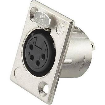 Neutrik NC4FP1 XLR kontakt ärm uttag, rak stift antal stift: 4 Silver 1 dator