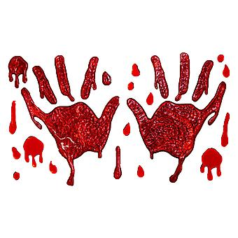 Blutige Hände Gel Fensteraufkleber