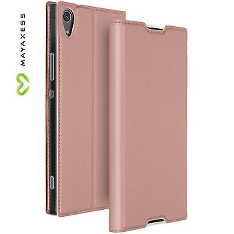Mayaxess Skin Series Flip case, standing case for Sony Xperia XA1 Ultra - Pink