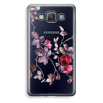 Samsung Galaxy A3 (2015) gjennomsiktig sak (myk) - pene blomster