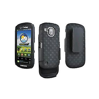 OEM Verizon Samsung Continuum i400 Galaxy S musta vyö clip Shell Holster combo (musta)