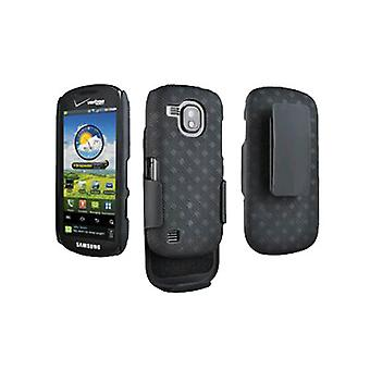 OEM Verizon Samsung Continuum i400 Galaxy S Black Belt Clip Shell Holster Combo (Negro)