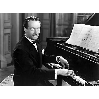 Victor Borge piano valokuvatulostus