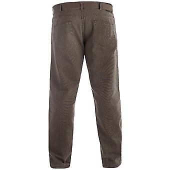 Duke London Mens Brian Big Tall King Size Bedford Cord Jeans Trousers With Belt