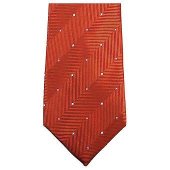 Knightsbridge dassen dubbele patroon stropdas - Burnt Orange