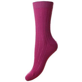 Pantherella Tabitha Cashmere sukat - Damson vaaleanpunainen