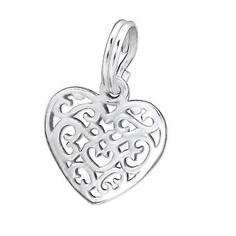 Heart - 925 Sterling Silver Charms With Split Ring - W29287x