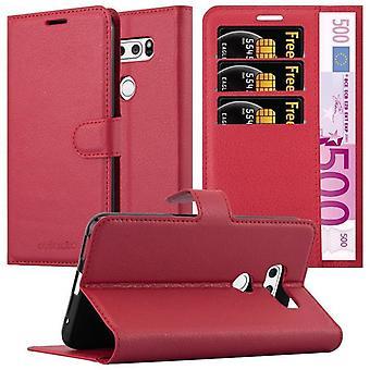 Cadorabo fallet för LG V30 fall Cover-telefon väska med magnetstängning, stand funktion och kort Case facket-Case täcka fall fall fall fall bok Folding Style