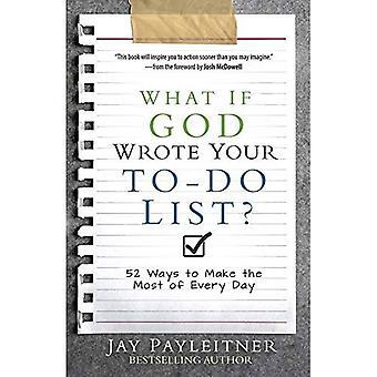 E se Dio ha scritto l'elenco degli impegni?