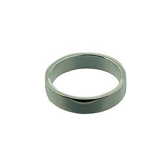 Zilveren 5 mm gewone vlakke trouwring grootte Z