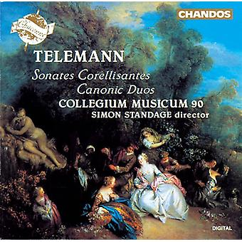 G.P. Telemann - Telemann: Sonates Corellisantes; Canonic Duos [CD] USA import