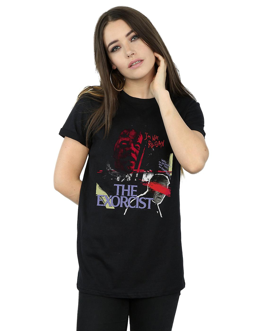 The Exorcist Women's Scratched Eyes Boyfriend Fit T-Shirt
