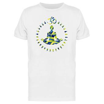 Silhouette Yoga Lotus Pose Symbol T-Shirt Herren-Bild von Shutterstock