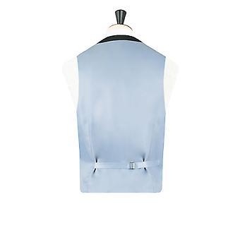 Dobell Herre Navy Prince of Wales Check vest Slim Fit 5 knap
