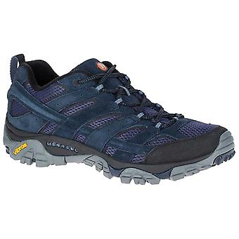 Merrell Navy Mens Moab 2 Ventilator Walking Shoes