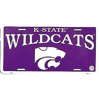 Kansas State Wildcats NCAA License Plate