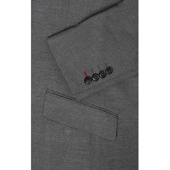 Dobell Herre lys grå jakkesæt jakke slim fit peak Lapel