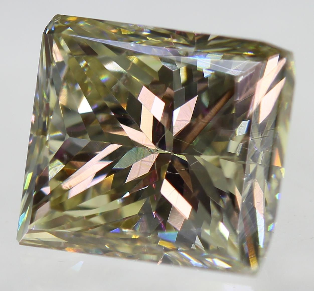 Certified 2.50 Carat J VVS1 Princess Enhanced Natural Diamond 7.47x6.64mm 2VG