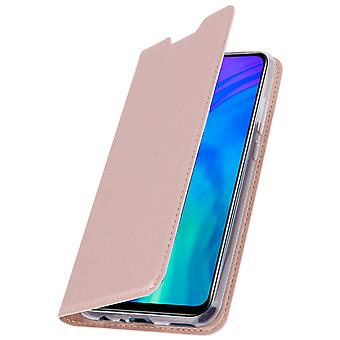 Slim flip wallet case, Business series for Honor 20 Lite - Rose gold