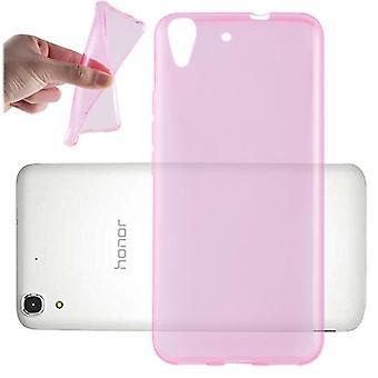 Cadorabo geval voor Huawei Y6 2015/Honor 4A gevaldekking-mobiele telefoon geval gemaakt van flexibele TPU silicone-silicone geval beschermende case ultra slanke zachte terug Cover Case bumper