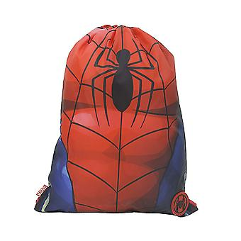 Spiderman Torso Drawstring School Pe Gym Trainer Bag