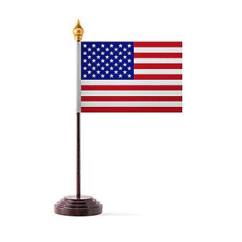 USA Table Flag with Stick and Base